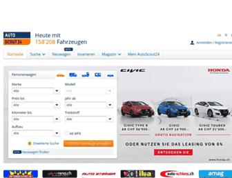 Main page screenshot of autoscout24.ch