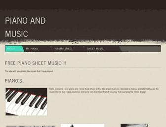 piano3sheets.weebly.com screenshot