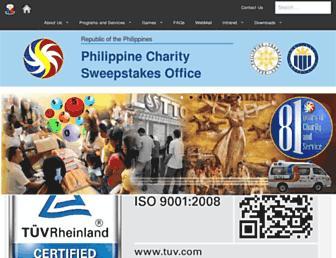Thumbshot of Pcso.gov.ph