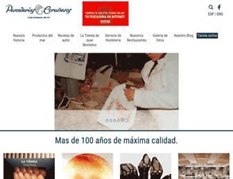 Main page screenshot of pescaderiascorunesas.es