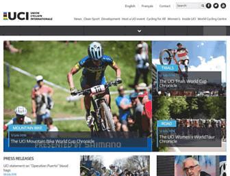 Main page screenshot of uci.ch