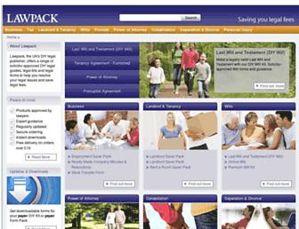 lawpack.co.uk screenshot