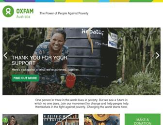 Thumbshot of Oxfam.org.au