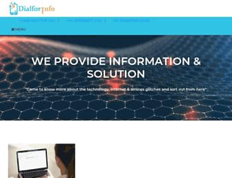 dialforinfo.com screenshot
