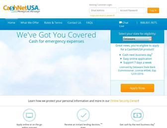 cashnetusa.com screenshot