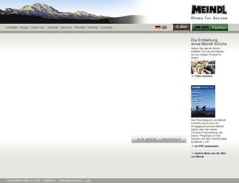 Main page screenshot of meindl.de