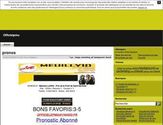 officielpmu.centerblog.net screenshot