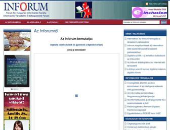 inforum.org.hu screenshot
