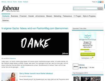 Main page screenshot of fabeau.de