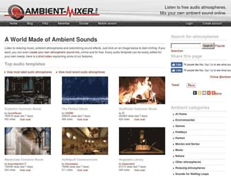 Thumbshot of Ambient-mixer.com