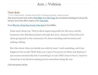 actsofvolition.com screenshot