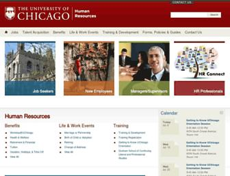 humanresources.uchicago.edu screenshot
