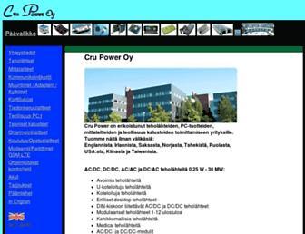 crupower.fi screenshot