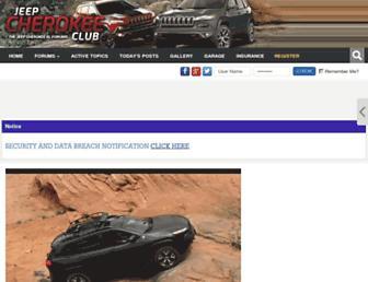 jeepcherokeeclub.com screenshot