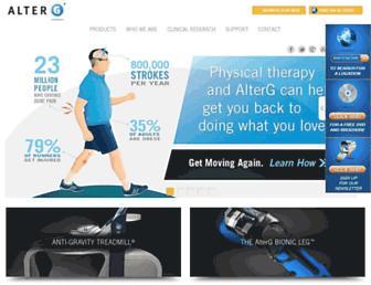 alterg.com screenshot