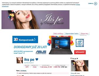 Main page screenshot of szykistyl.pinger.pl