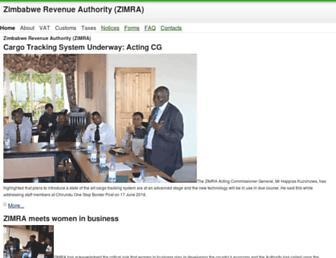 zimra.co.zw screenshot