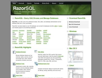 razorsql.com screenshot