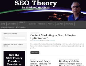 Thumbshot of Seo-theory.com