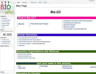Main page screenshot of bio.cc