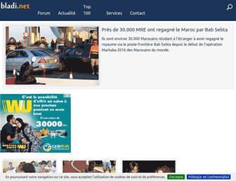 Main page screenshot of bladi.net