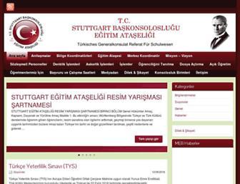 Main page screenshot of stuttgartegitim.de
