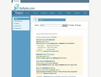 internet.softpile.com screenshot