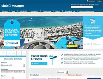 clubvoyages.com screenshot