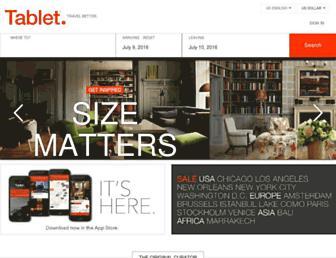 tablethotels.com screenshot