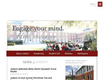 judson.edu screenshot