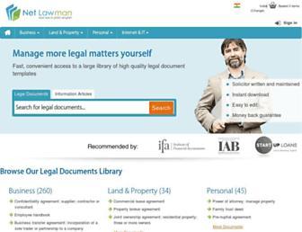 Main page screenshot of netlawman.co.in