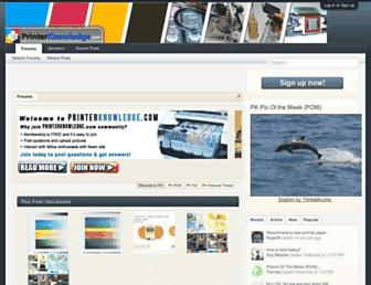 printerknowledge.com screenshot