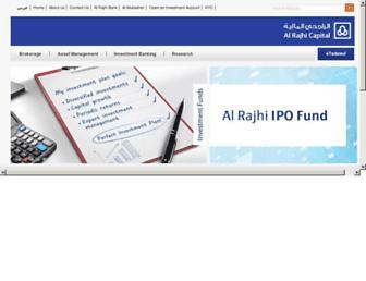 alrajhi-capital.com screenshot