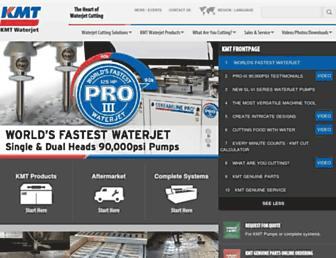 kmtwaterjet.com screenshot
