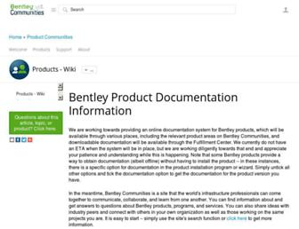 docs.bentley.com screenshot