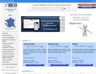 Main page screenshot of indexa.fr