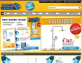 Main page screenshot of badkamerconcurrent.nl