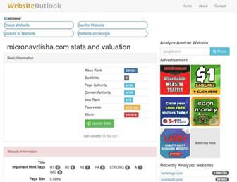 micronavdisha.com.websiteoutlook.com screenshot