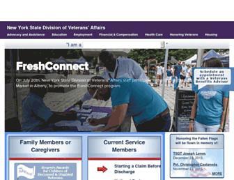 Main page screenshot of veterans.ny.gov