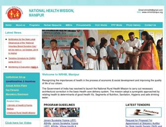 nrhmmanipur.org screenshot