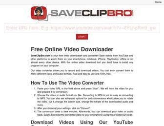 saveclipbro.com screenshot