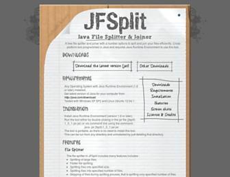 jfsplit.sourceforge.net screenshot
