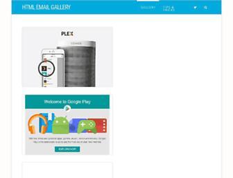 htmlemailgallery.com screenshot