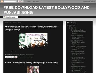 mypunjabsong.blogspot.com screenshot
