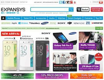 expansys.com.hk screenshot