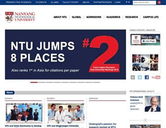 Main page screenshot of ntu.edu.sg