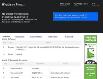 whatismyproxy.com screenshot