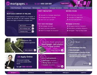 mortgages.ie screenshot