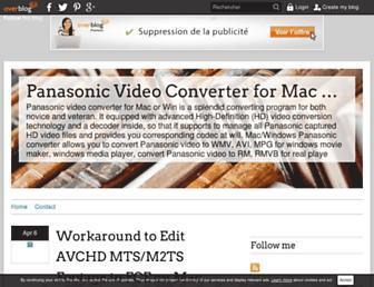 panasonicavchd.over-blog.com screenshot