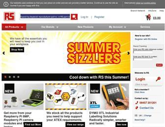 uk.rs-online.com screenshot